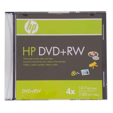 Dvd - rw Gravável Hp 120 Min / 4.7 Gb / 4x Com Capa Slim 997062