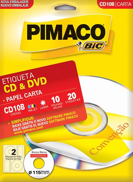 Etiqueta Pimaco Ink Jet Cd10b 993762