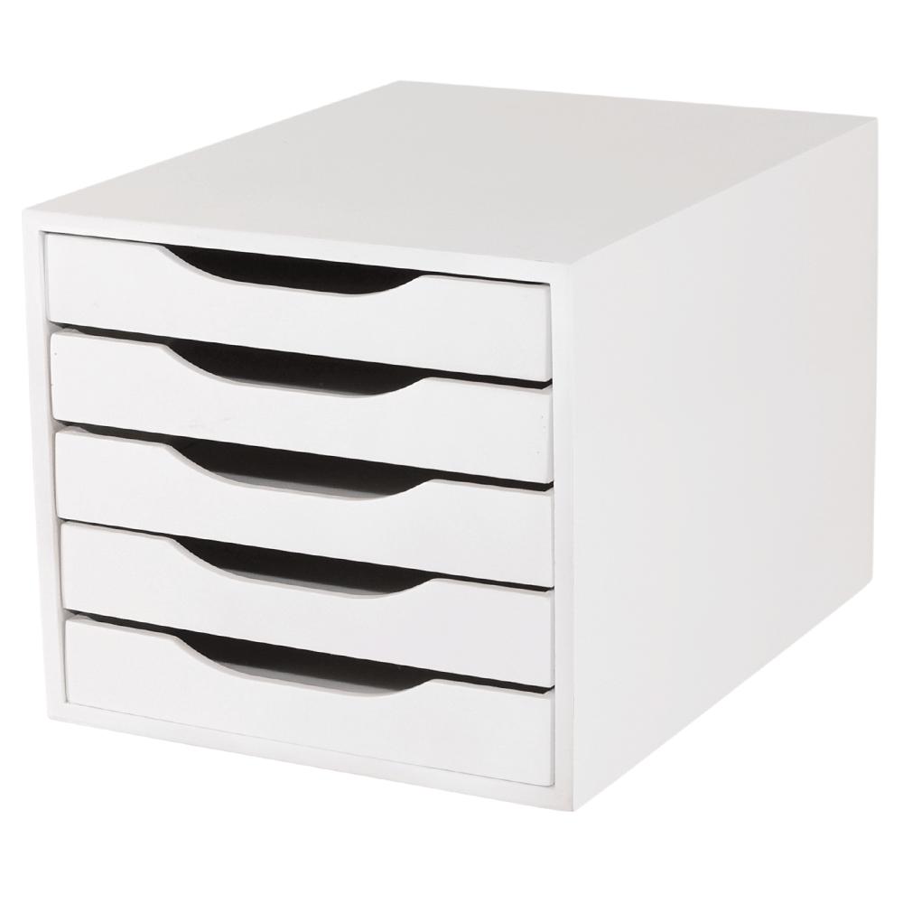 Caixa de Arquivo 5 Gavetas Branco - Souza 1023565