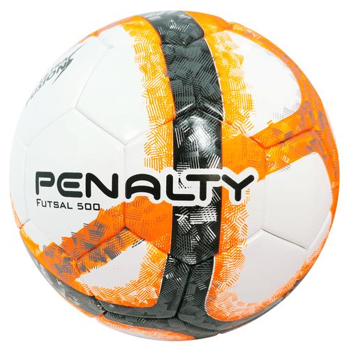 Bola-de-Futsal-Penalty-Oficial-500-Ultra-Fusion-Laranja-e-Branca