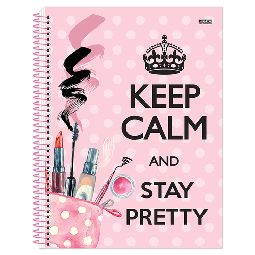 Caderno-Universitario-Keep-Calm-Girl-12-Materias-Sao-Domingos