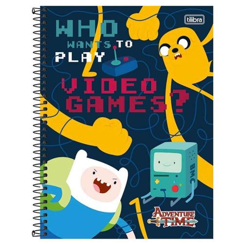 Caderno-Universitario-Adventure-Time-10-Materias-Tilibra