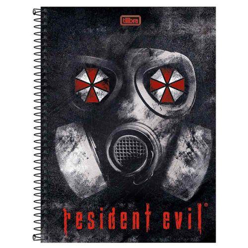 Caderno-Universitario-Resident-Evil-1-Materia-Tilibra