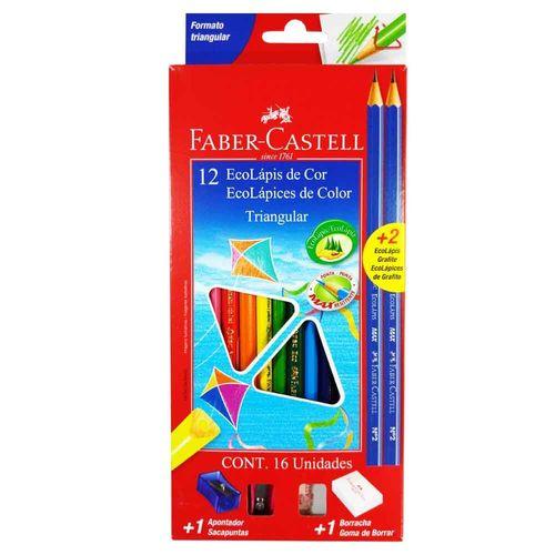 Lapis-de-Cor-12-Cores-Triangular-Faber-Castell