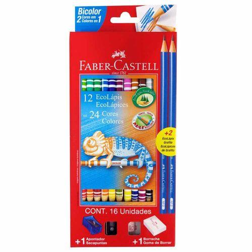 Lapis-de-Cor-24-Cores-Bicolor-Faber-Castell