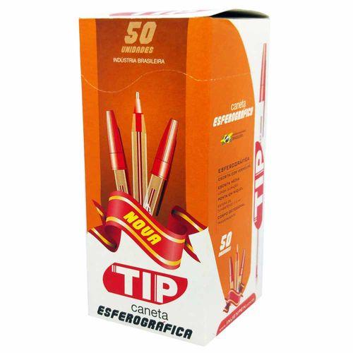 Caneta-Esferografica-Injex-Pen-Tip-1.0-Vermelha-50-Unidades