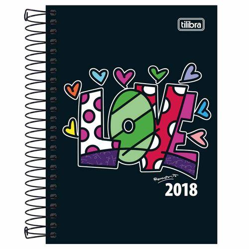 Agenda-2018-Tilibra-Romero-Britto-Love