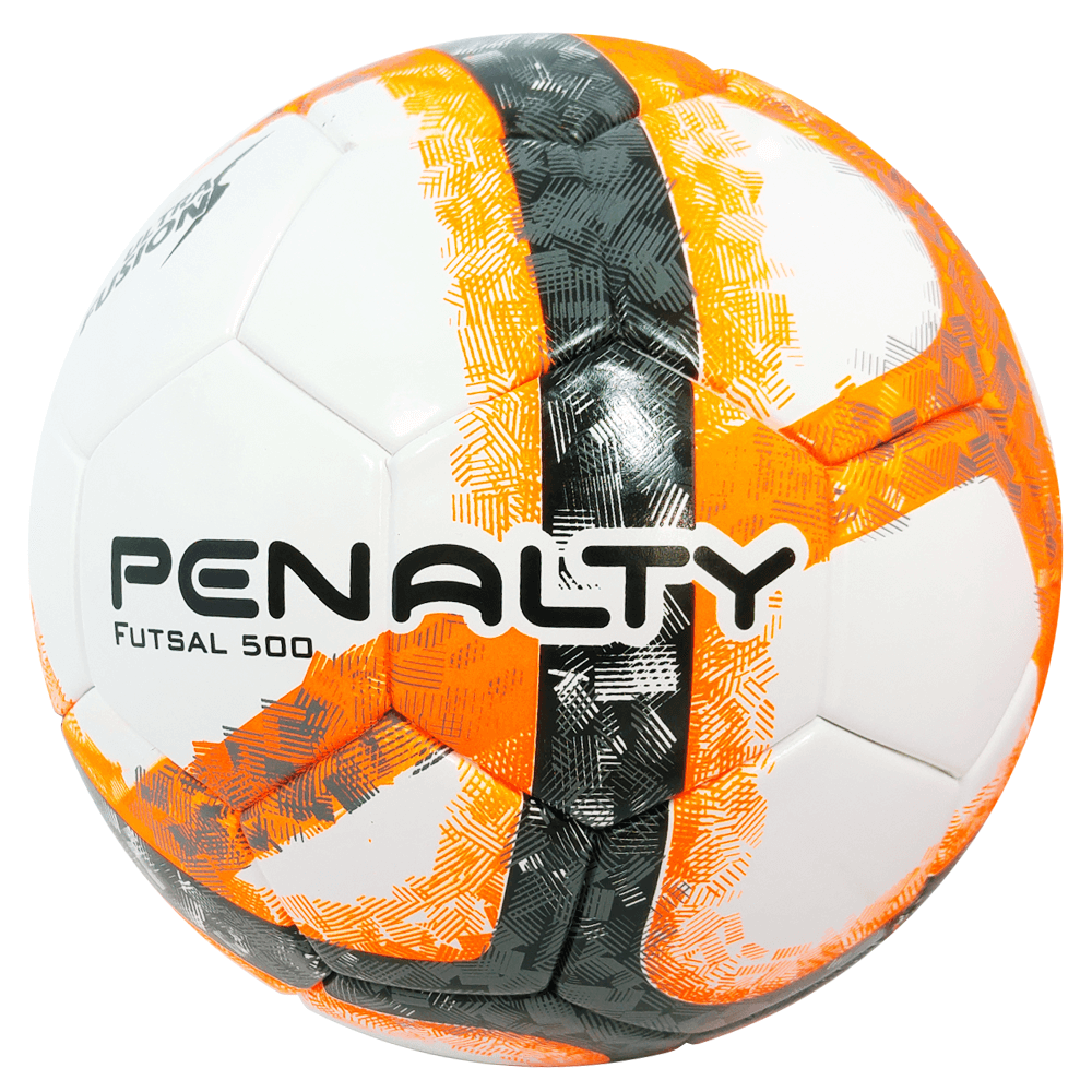 bedbf1f82f Bola de Futsal Penalty Oficial 500 Ultra Fusion Laranja e Branca ...