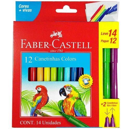 Caneta-Hidrografica-Faber-Castell-12-Cores---2-Vai-e-Vem