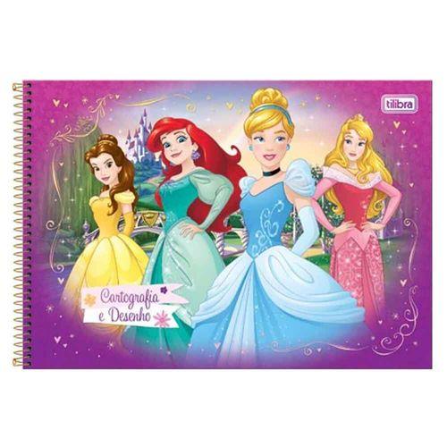Caderno-Cartografia-e-Desenho-Princesas-96-Folhas-Tilibra