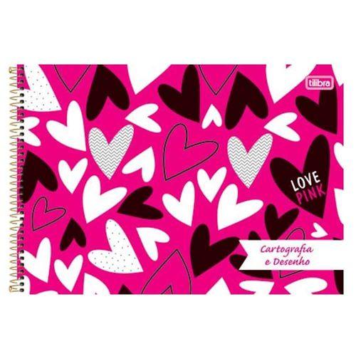 Caderno-Cartografia-e-Desenho-Love-Pink-96-Folhas-Tilibra