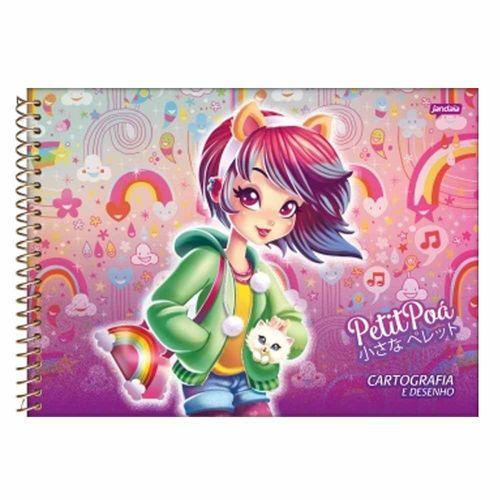 Caderno-Cartografia-e-Desenho-Petit-Poa-96-Folhas-Jandaia