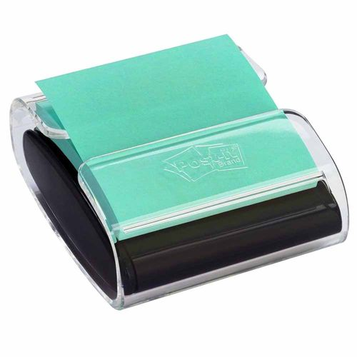 Dispensador-de-Post-it-Pop-up-Preto-com-Bloco-76x76mm-Verde-100-Folhas