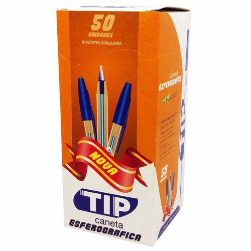 Caneta-Esferografica-Injexpen-Tip-1.0-Azul-50-unidades