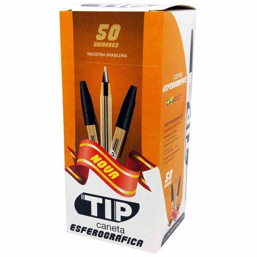 Caneta-Esferografica-Injexpen-Tip-1.0-Preta-50-Unidades