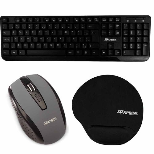Kit-Teclado-Mouse-e-Mouse-Pad-Maxprint