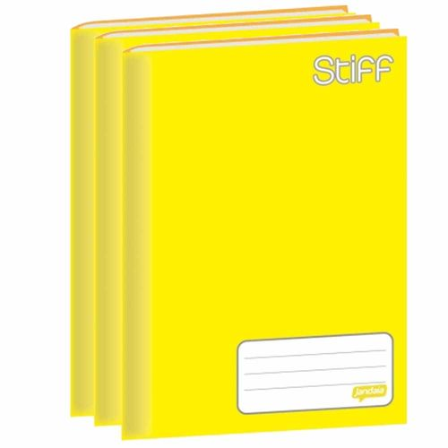 Caderno-Brochura-14-Jandaia-Stiff-48-Folhas-Amarelo-10-Unidades