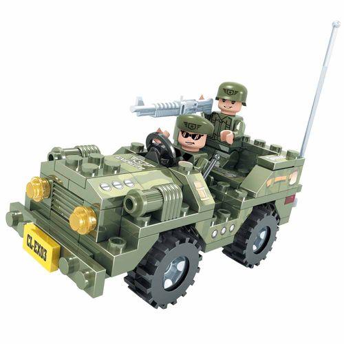 Blocos-de-Montar-Click-it-Jipe-Militar-108-Pecas-Play-Cis