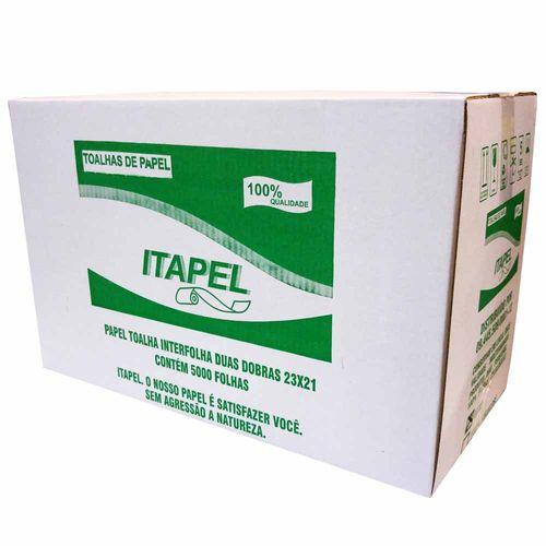 Papel-Toalha-Interfolha-Duas-Dobras-23x21-Itapel-Luxo-5000-Folhas