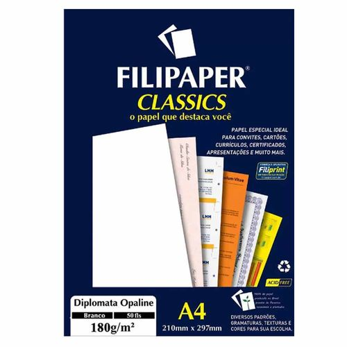 Papel-Diplomata-Opaline-A4-180gm²-Branco-Filipaper---50-Folhas