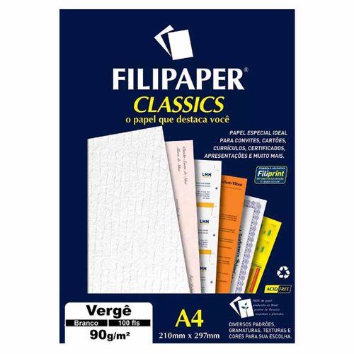 Papel-Verge-A4-90gm²-Branco-Filipaper---100-Folhas