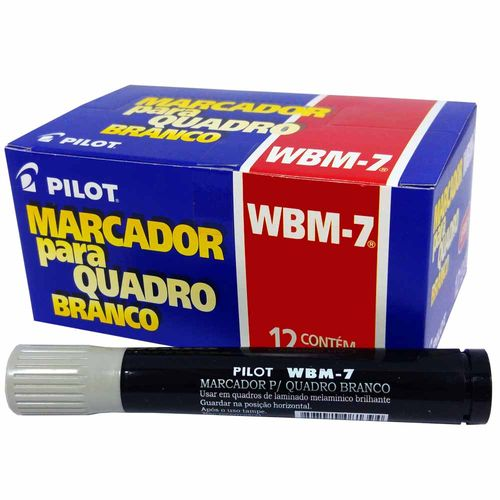 Pincel-para-Quadro-Branco-Pilot-WBM-7-Preto-12-Unidades