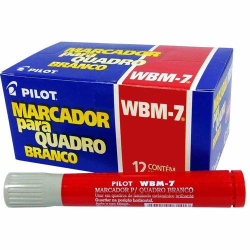 Pincel-para-Quadro-Branco-Pilot-WBM-7-Vermelho-12-Unidades