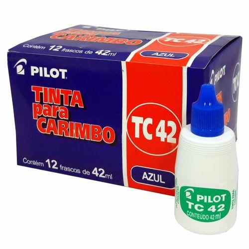 Tinta-para-Carimbo-Pilot-TC42-Azul-12-Unidades