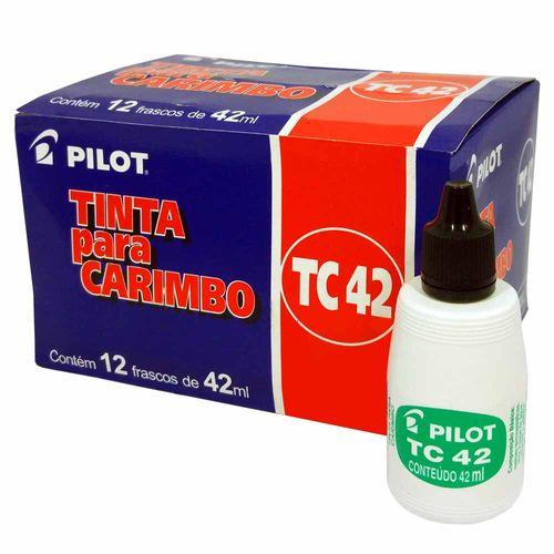 Tinta-para-Carimbo-Pilot-TC42-Preta-12-Unidades