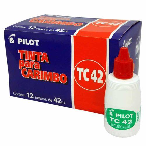 Tinta-para-Carimbo-Pilot-TC42-Vermelha-12-Unidades