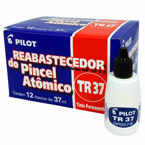 Tinta-para-Pincel-Atomico-Pilot-TR37-Preta-12-Unidades