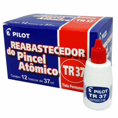 Tinta-para-Pincel-Atomico-Pilot-TR37-Vermelha-12-Unidades