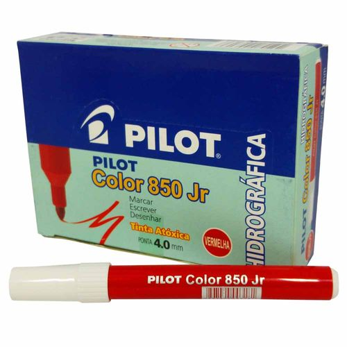 Caneta-Hidrografica-Pilot-Color-850-Jr-Vermelha-12-Unidades