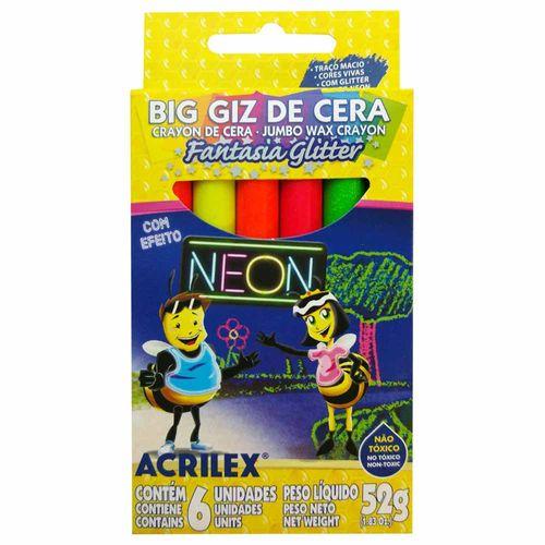 Giz-De-Cera-06-Cores-Fantasia-Glitter-Neon-Acrilex