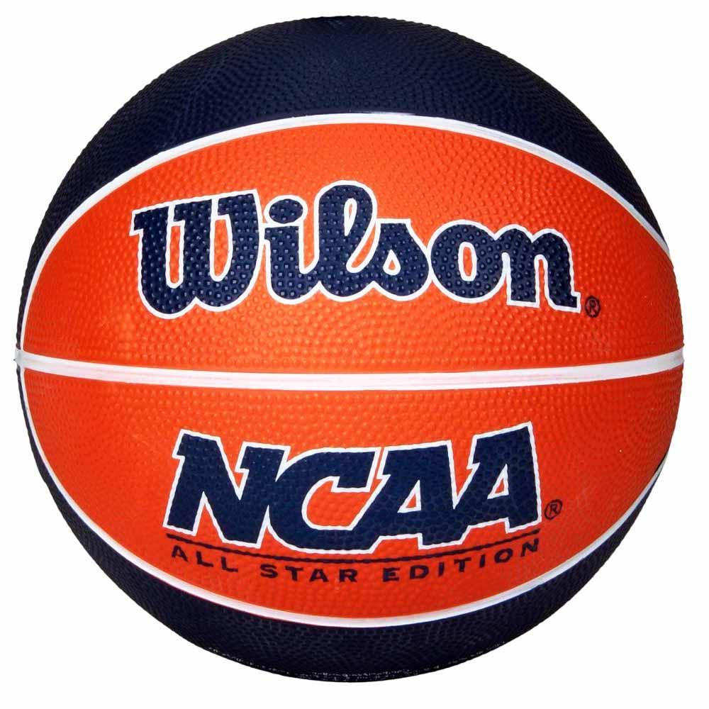 Bola de Basquete Wilson NCAA Mini Laranja e Azul - costaatacado cded21edb49f1