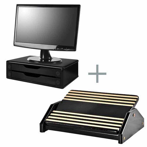 Kit-Suporte-Para-Monitor-2-Gavetas-e-Apoio-para-os-Pes