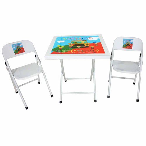 Conjunto-Mesa-de-Ferro-Infantil-Dobravel-com-2-Cadeiras-Acomix