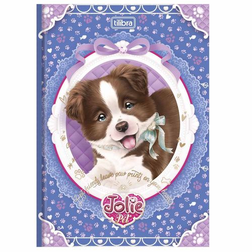 Caderno-Brochura-14-Jolie-Pet-96-Folhas-Tilibra