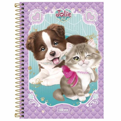 Caderno-14-Jolie-Pet-96-Folhas-Tilibra