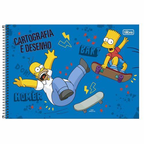 Caderno-de-Cartografia-Simpsons-96-Folhas-Tilibra