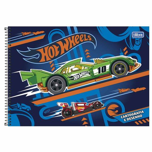 Caderno-de-Cartografia-Hot-Wheels-96-Folhas-Tilibra