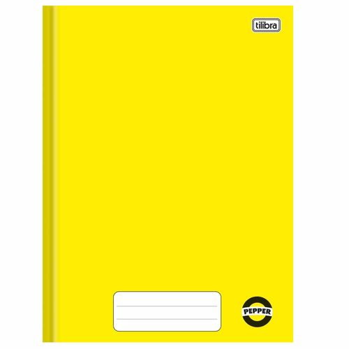 Caderno-Brochura-14-Pepper-Amarelo-80-Folhas-Tilibra