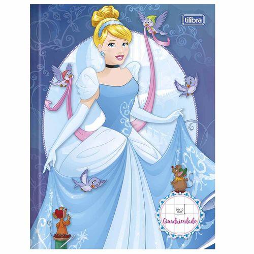 Caderno-Quadriculado-Princesas-40-Folhas-Tilibra