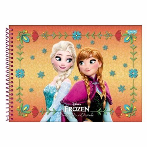 Caderno-de-Cartografia-Frozen-96-Folhas-Jandaia