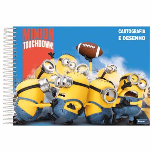 Caderno-de-Cartografia-Minions-96-Folhas-Foroni