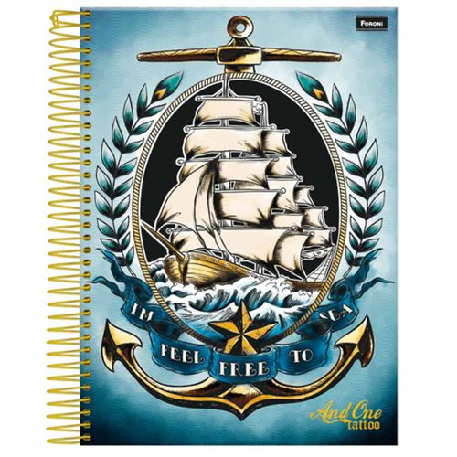 Caderno-Universitario-And-One-Tattoo-15-Materias-Foroni