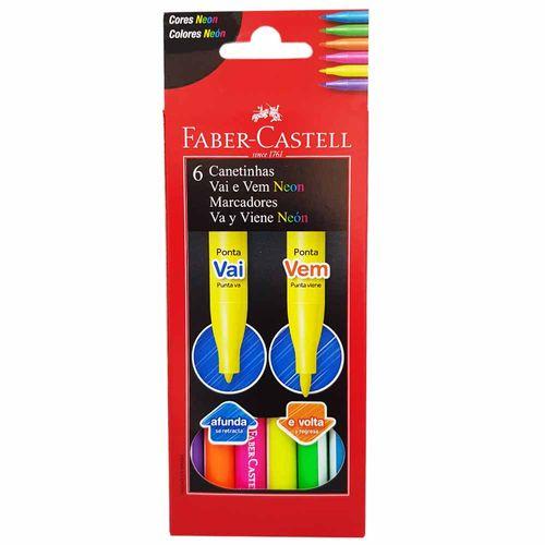 Caneta-Hidrografica-6-Cores-Neon-Vai-e-Vem-Faber-Castell