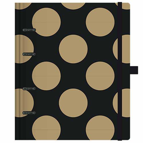 Caderno-Organizador-Gold-e-Kraft-Planner-Ultra-Preto-Otima