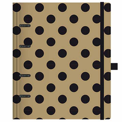 Caderno-Organizador-Gold-e-Kraft-Planner-Ultra-Dourado-Otima