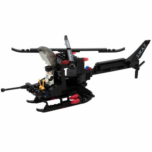 Blocos-de-Montar-Click-it-Helicoptero-Swat-202-Pecas-Play-Cis